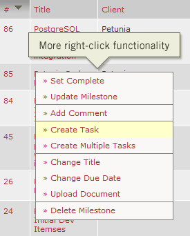 More right-click functionality