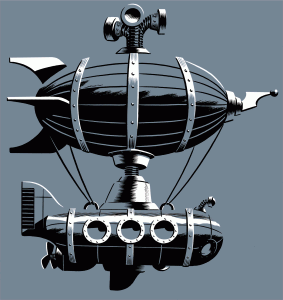 Submersible Dirigible Illustration by Michael Cho