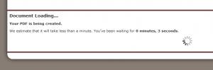 Screenshot of PDF Loading