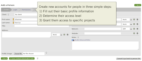New Workflow for Creating a Person Login Account