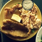 Fried catfish and chipotle slaw