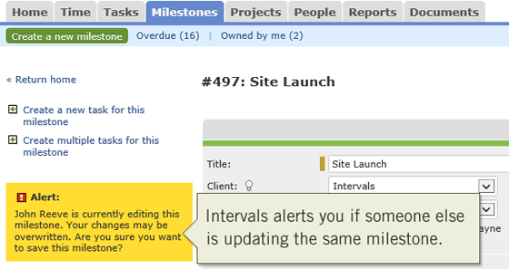 Collision detection when updating milestones