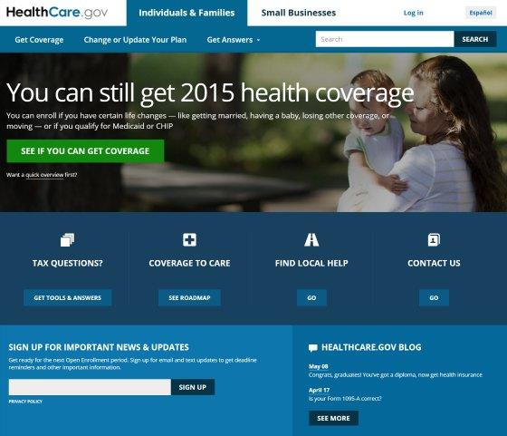 Healthcare.gov web site