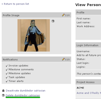 Person Detail Page